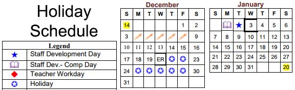 Christmas Holiday - Dec 21-29